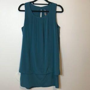 Blue Rain Flowy Dress